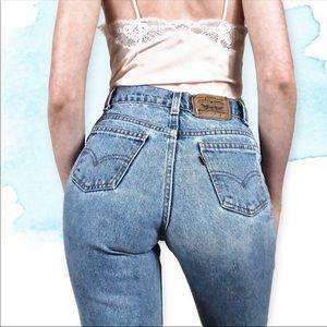 Vintage Orange tab Levi's 505 jeans Size 24